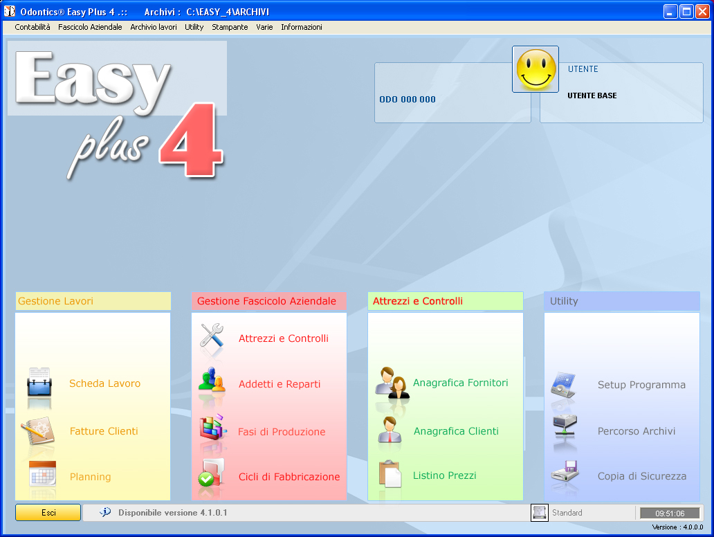 Easy Plus 4® - menu principale
